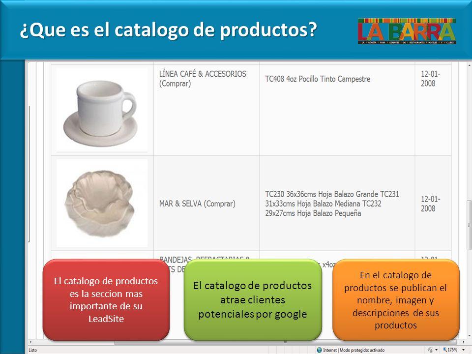 ¿Que es el catalogo de productos.