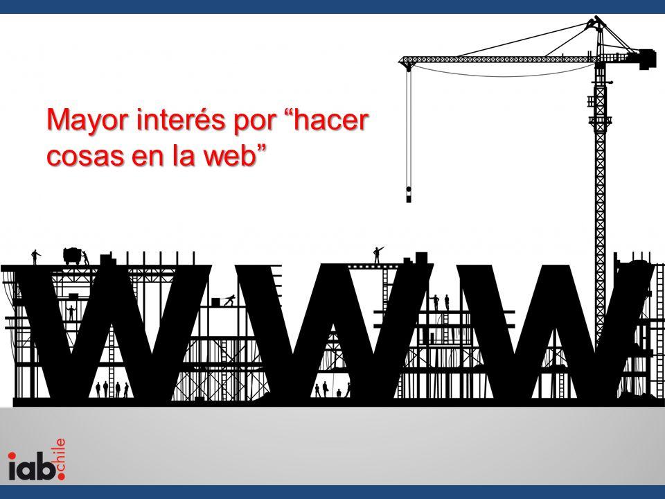 Mayor interés por hacer cosas en la web