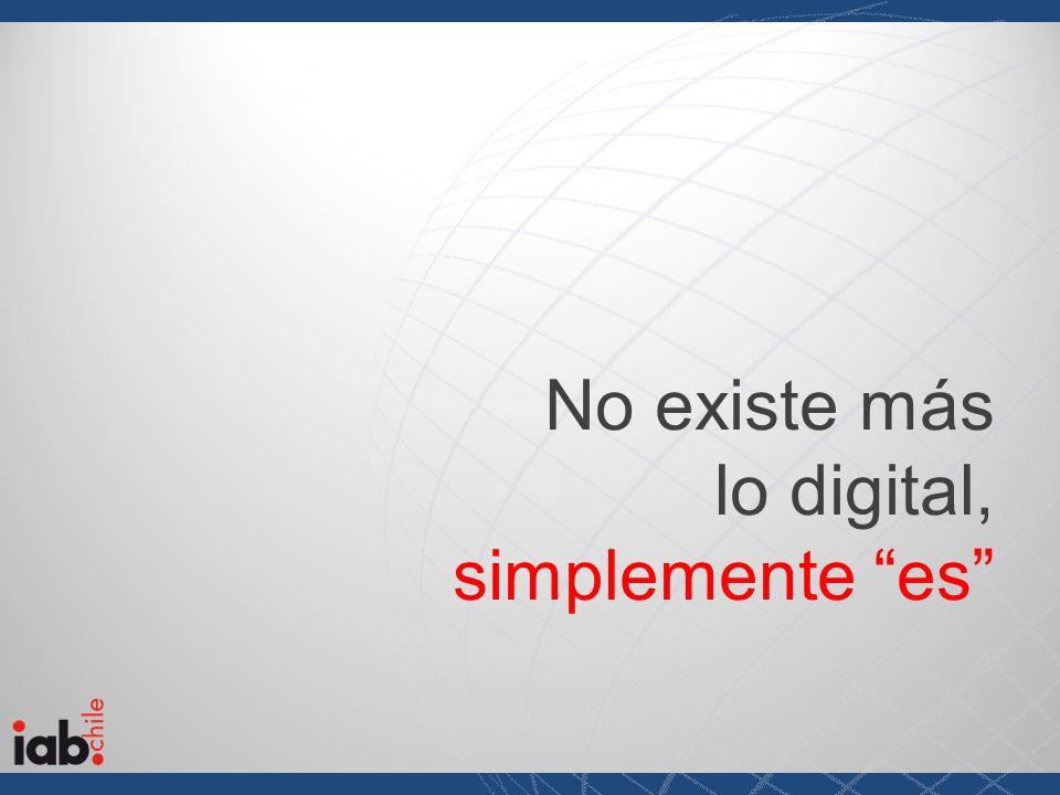 No existe más lo digital, simplemente es