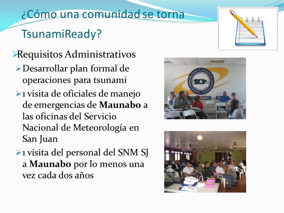 ¿ Cómo una comunidad se torna TsunamiReady.
