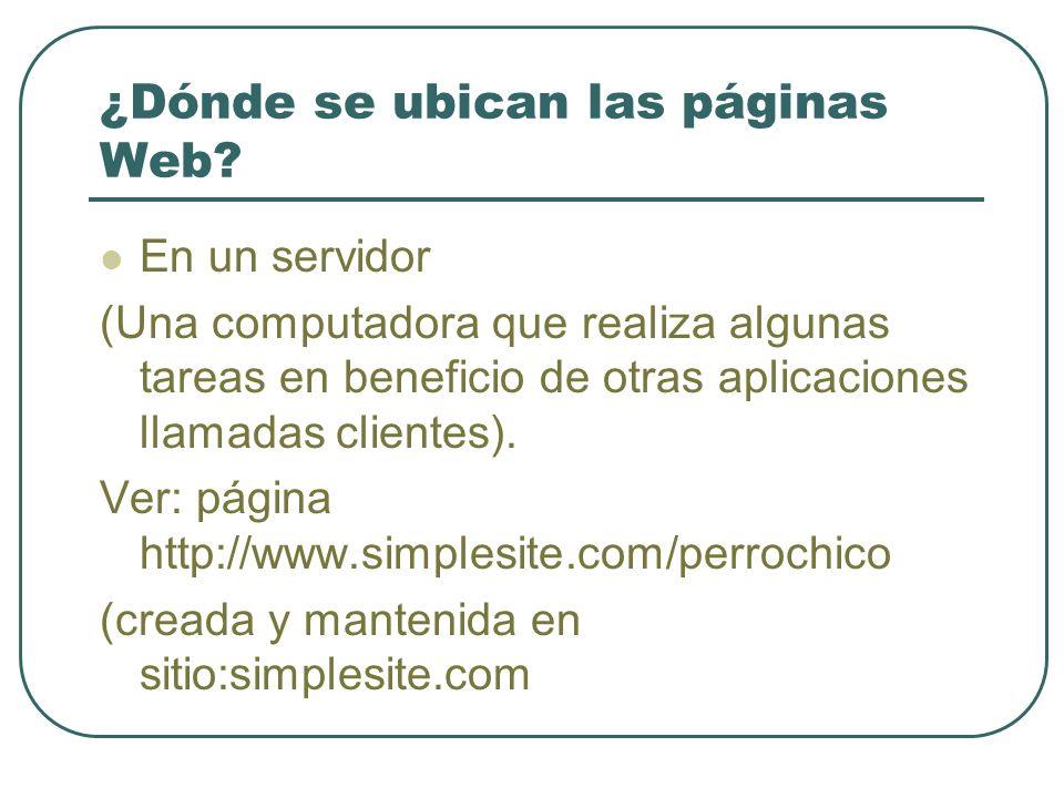 ¿Dónde se ubican las páginas Web.