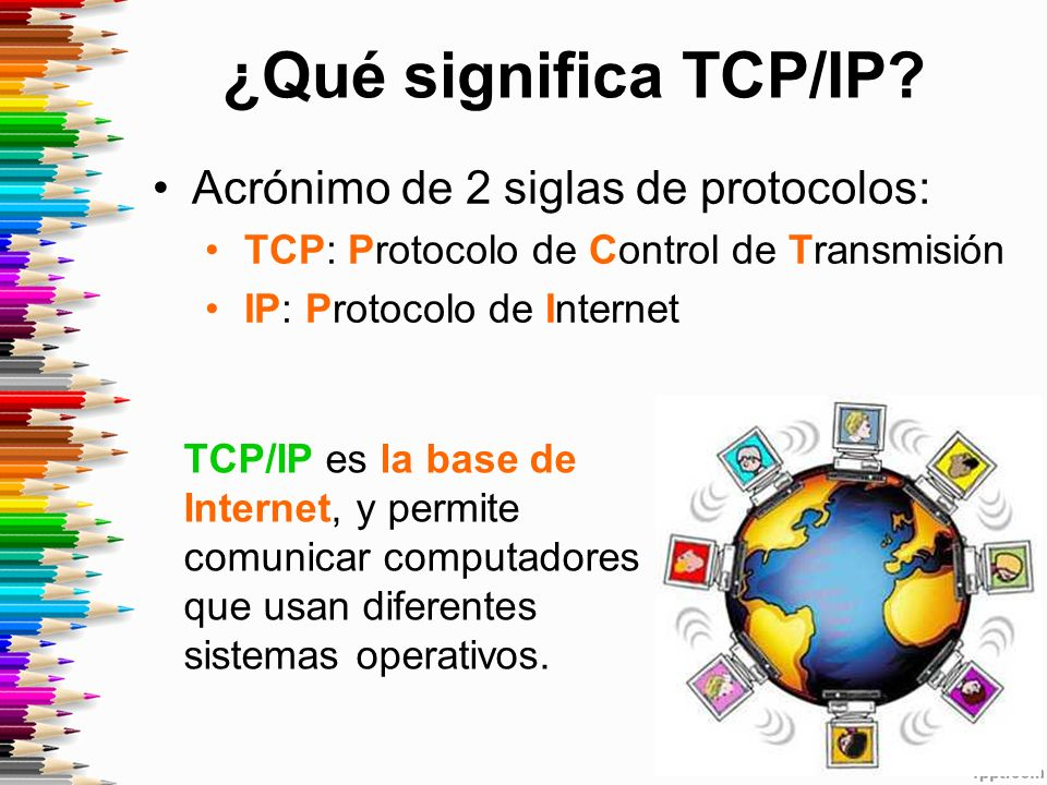 ¿Qué significa TCP/IP.