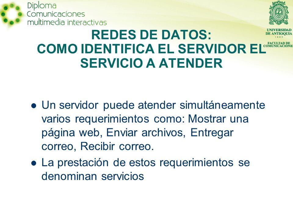 Cuando un dispositivo se comunica con otro, dentro de la información de enlace va un dato numérico denominado puerto, con el cual, el dispositivo receptor, determina que servicio fue solicitado.