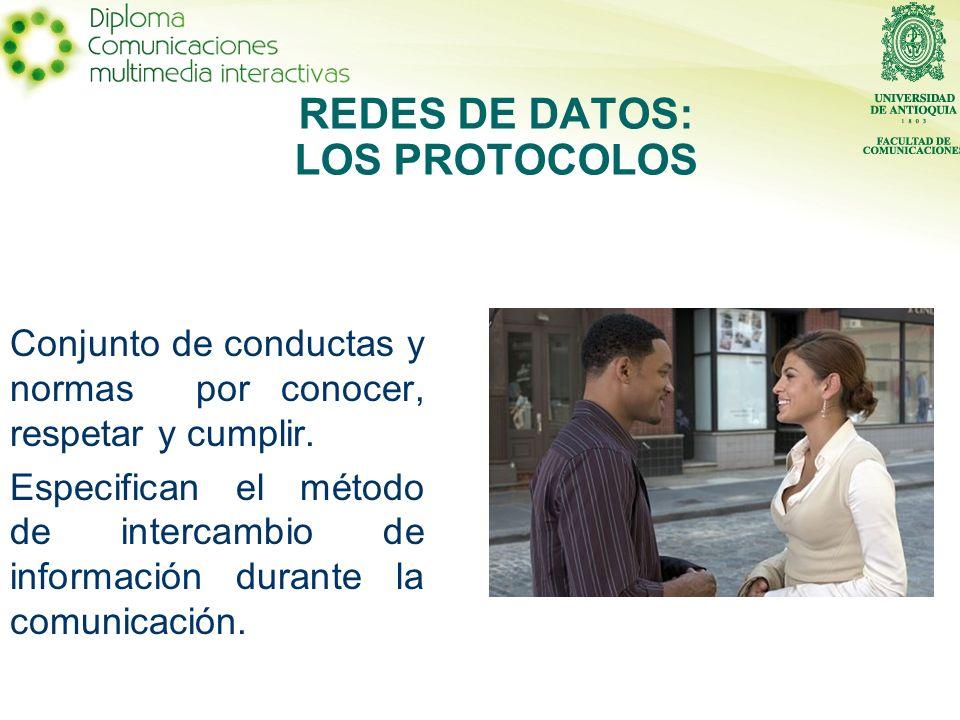 Conjunto de conductas y normas por conocer, respetar y cumplir. Especifican el método de intercambio de información durante la comunicación. REDES DE