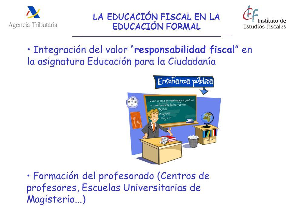 LA EDUCACIÓN FISCAL EN LA EDUCACIÓN FORMAL Integración del valor responsabilidad fiscal en la asignatura Educación para la Ciudadanía Formación del pr