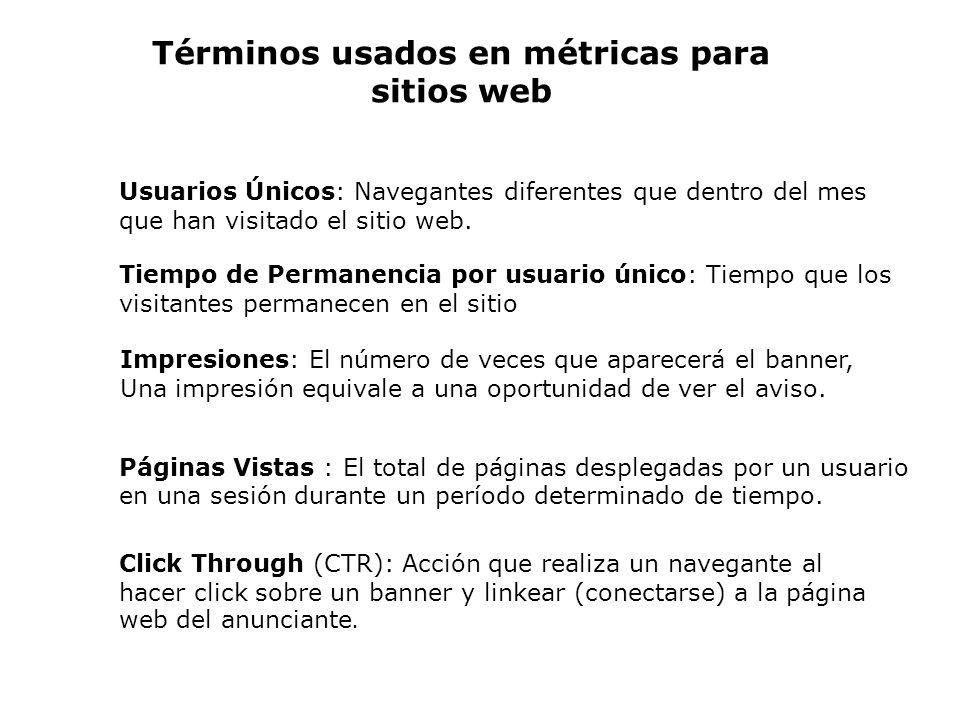 Usuarios Únicos: Navegantes diferentes que dentro del mes que han visitado el sitio web. Tiempo de Permanencia por usuario único: Tiempo que los visit