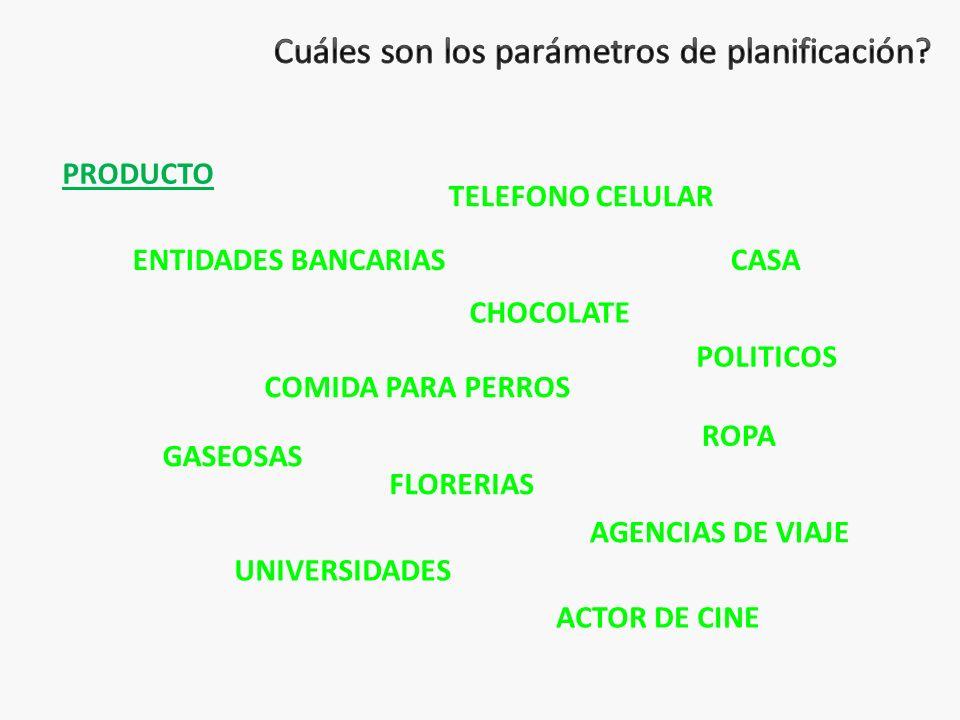 PRODUCTO TELEFONO CELULAR CHOCOLATE ENTIDADES BANCARIAS COMIDA PARA PERROS AGENCIAS DE VIAJE UNIVERSIDADES FLORERIAS POLITICOS ACTOR DE CINE GASEOSAS ROPA CASA