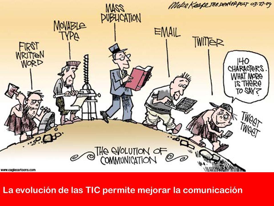 La evolución de las TIC permite mejorar la comunicación