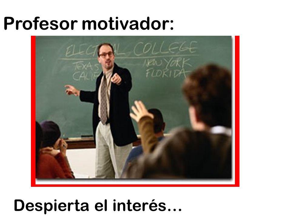 Profesor motivador: Despierta el interés…