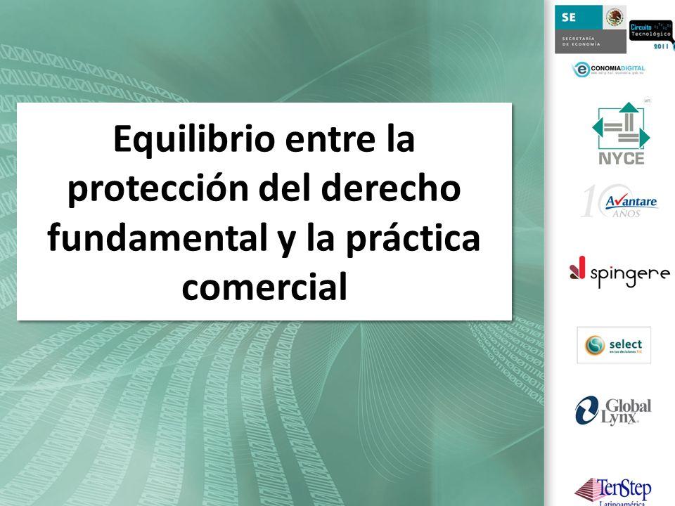 Equilibrio entre la protección del derecho fundamental y la práctica comercial