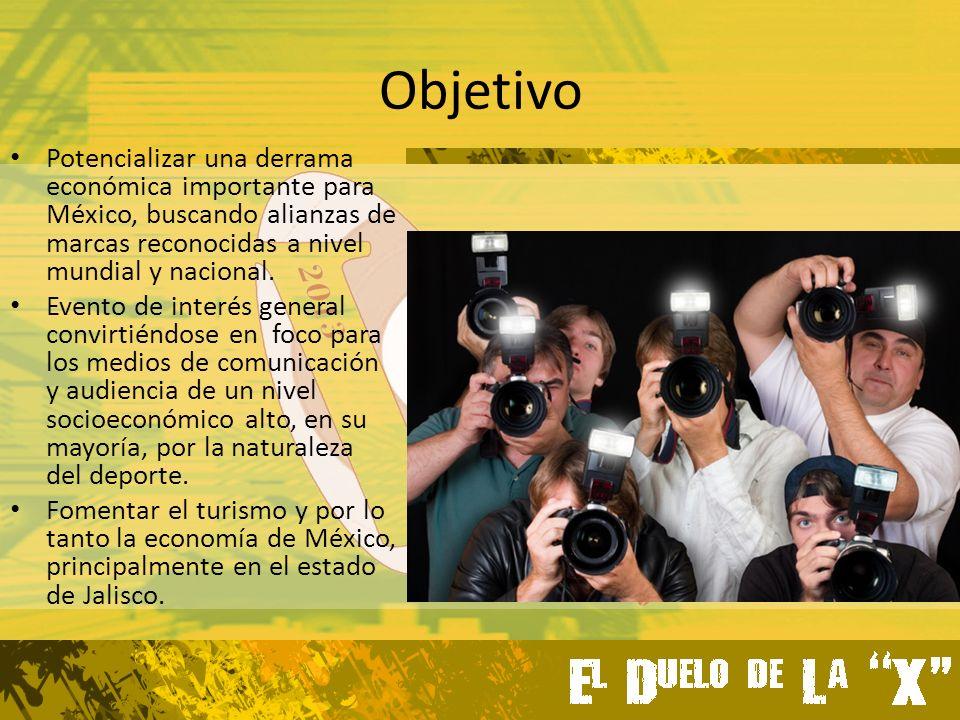 Objetivo Potencializar una derrama económica importante para México, buscando alianzas de marcas reconocidas a nivel mundial y nacional.