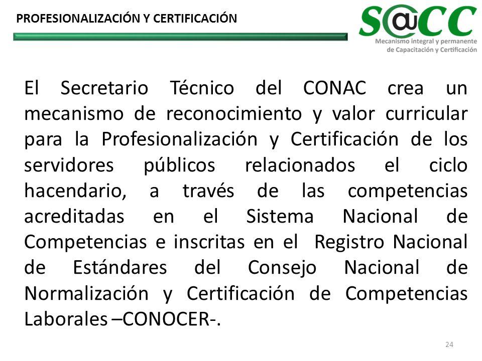 El Secretario Técnico del CONAC crea un mecanismo de reconocimiento y valor curricular para la Profesionalización y Certificación de los servidores pú