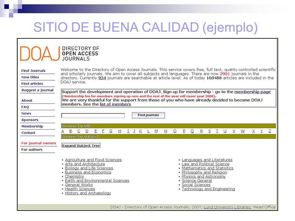 SITIO DE BUENA CALIDAD (ejemplo)