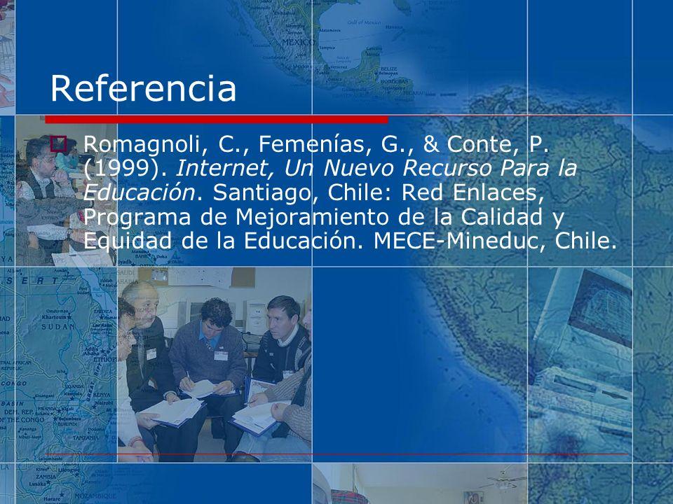 Referencia Romagnoli, C., Femenías, G., & Conte, P.