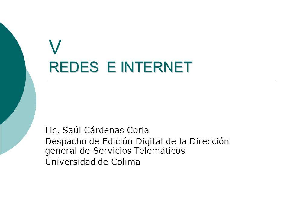REDES E INTERNET V REDES E INTERNET Lic.