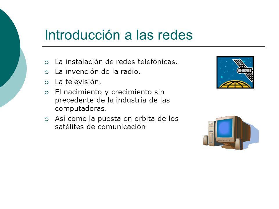 Introducción a las redes La instalación de redes telefónicas.