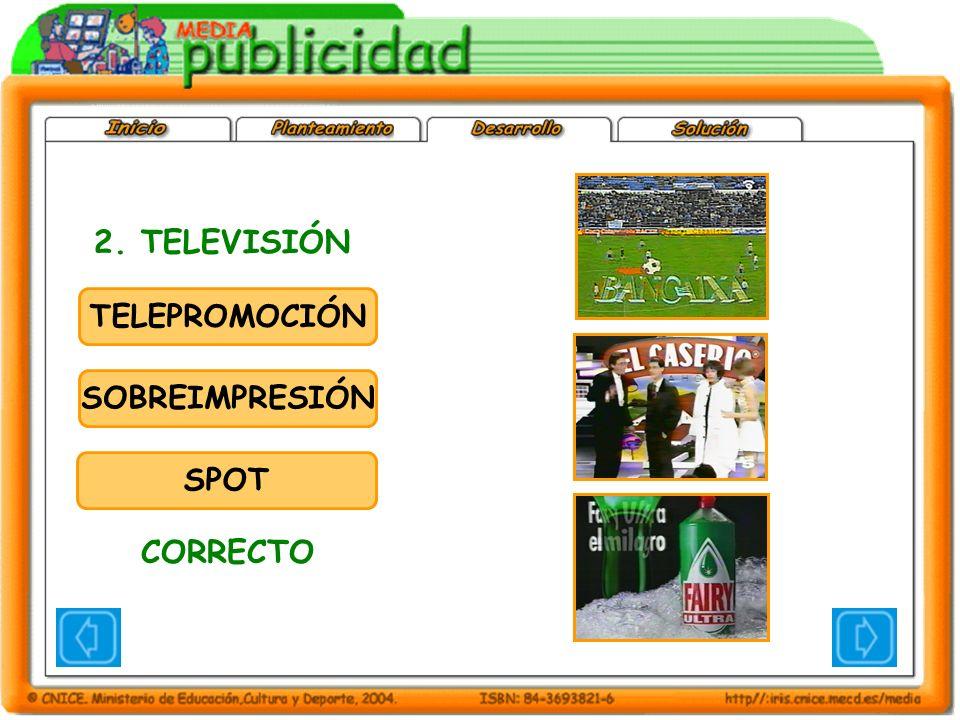 TELEPROMOCIÓN SOBREIMPRESIÓN SPOT 2. TELEVISIÓN CORRECTO