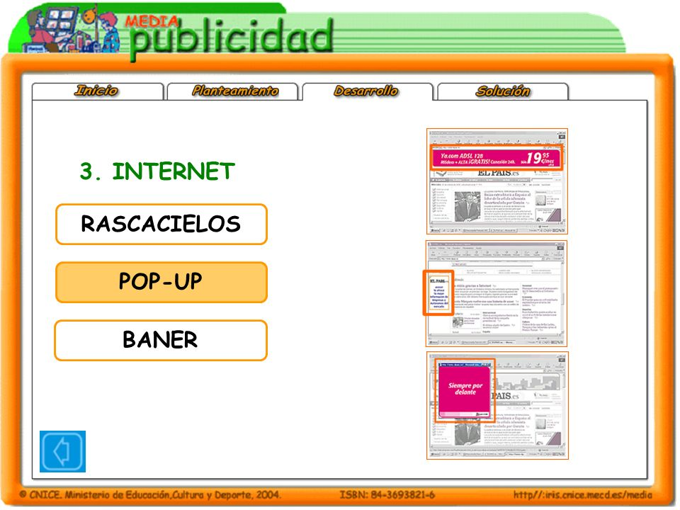 3. INTERNET RASCACIELOS POP-UP BANER