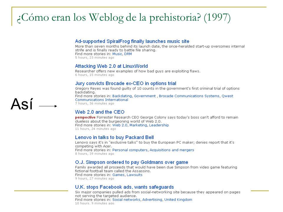 ¿Cómo eran los Weblog de la prehistoria? (1997) Así