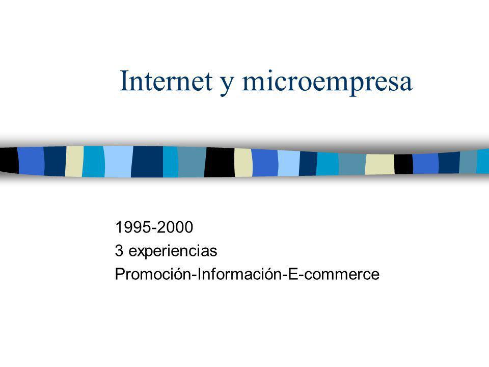 Internet y microempresa 1995-2000 3 experiencias Promoción-Información-E-commerce
