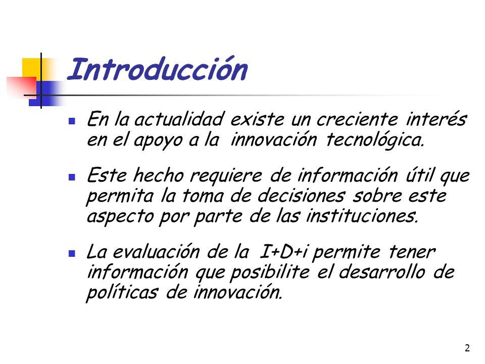 3 Introducción Las patentes son un tipo de documento que permite el estudio de I+D+i.