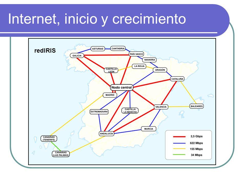 Internet, inicio y crecimiento redIRIS