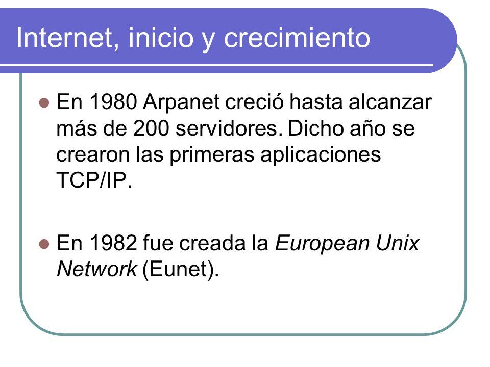 En 1992 el número de servidores supero el millón y se crea la Internet Society.