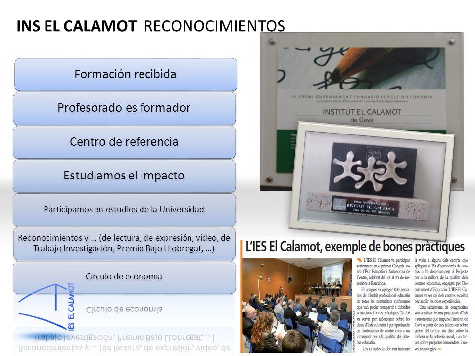 QiMC INS EL CALAMOT RECONOCIMIENTOS