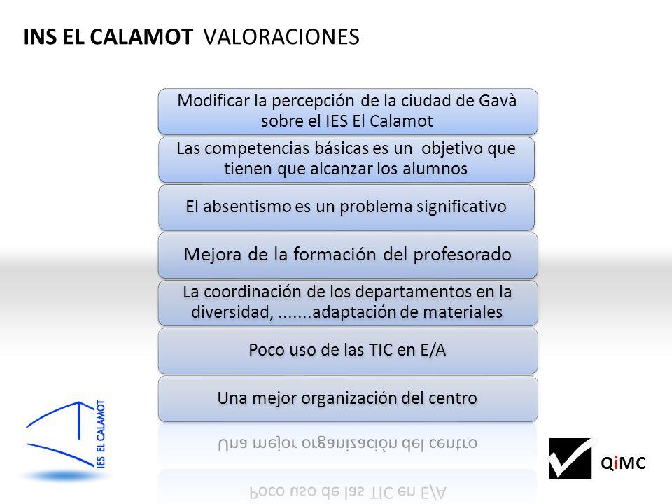 INS EL CALAMOT VALORACIONES