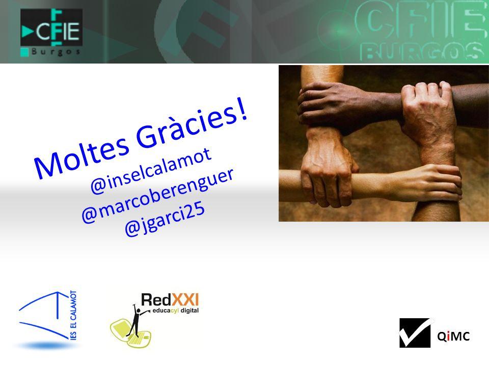 Moltes Gràcies! @inselcalamot @marcoberenguer @jgarci25
