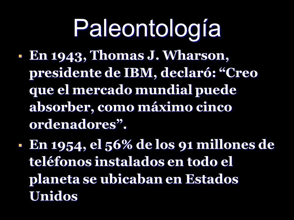 Paleontología En 1943, Thomas J.