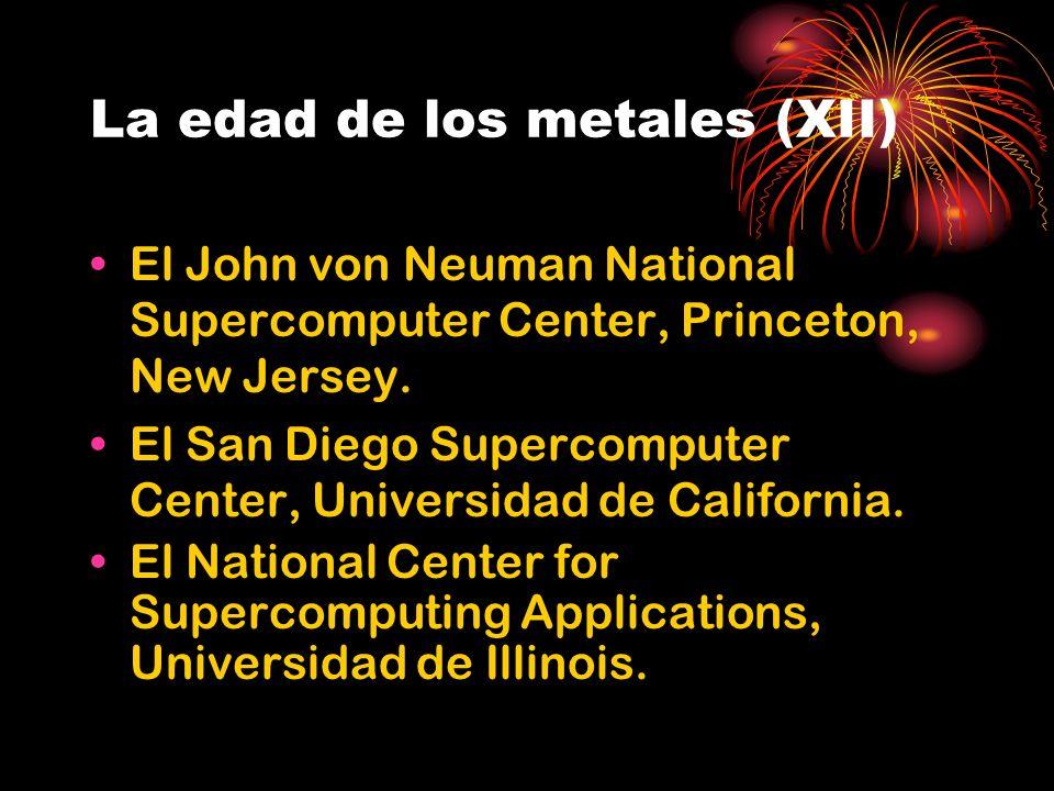 La edad de los metales (XII) El John von Neuman National Supercomputer Center, Princeton, New Jersey.