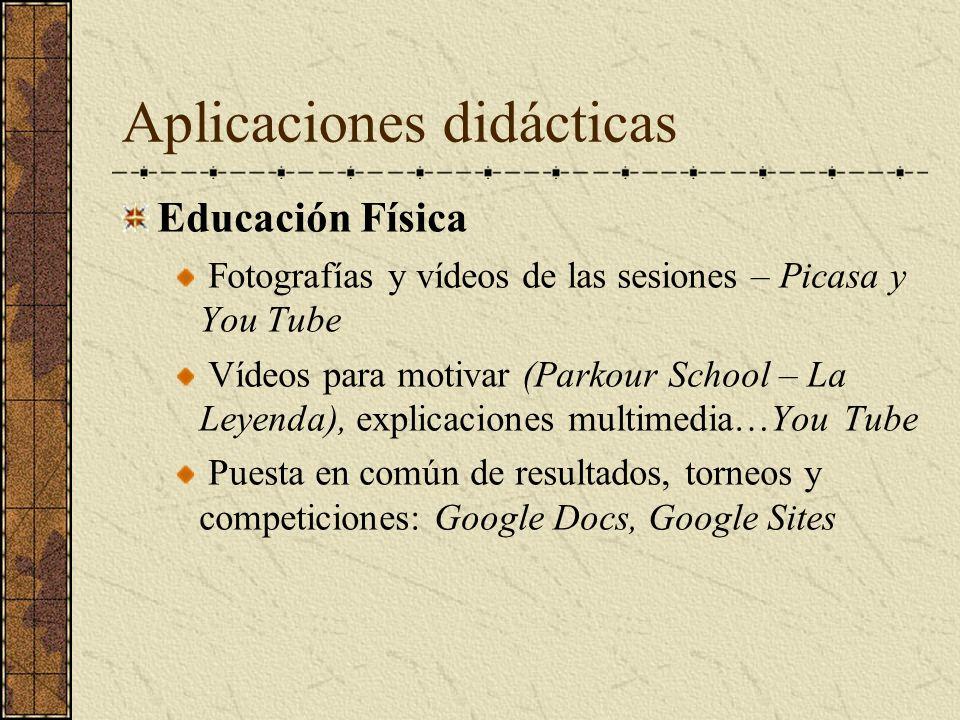 Aplicaciones didácticas Educación Física Fotografías y vídeos de las sesiones – Picasa y You Tube Vídeos para motivar (Parkour School – La Leyenda), e