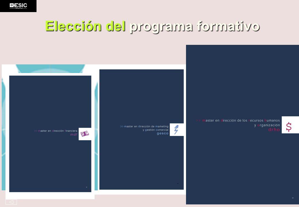 Elección del programa formativo
