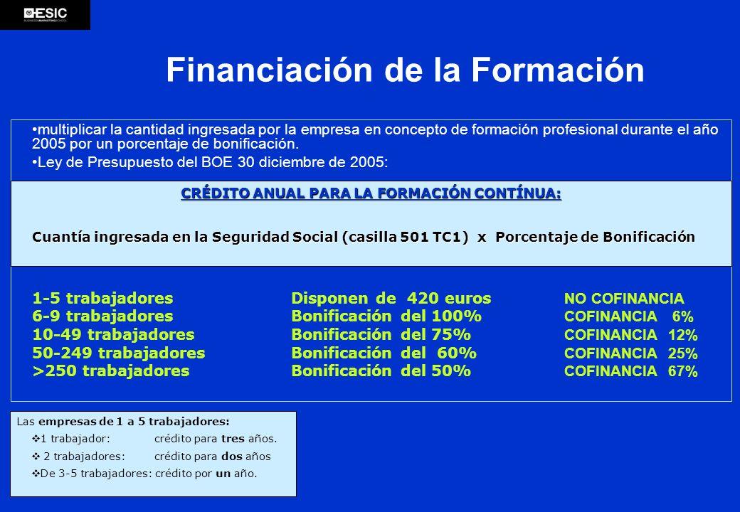 multiplicar la cantidad ingresada por la empresa en concepto de formación profesional durante el año 2005 por un porcentaje de bonificación. Ley de Pr