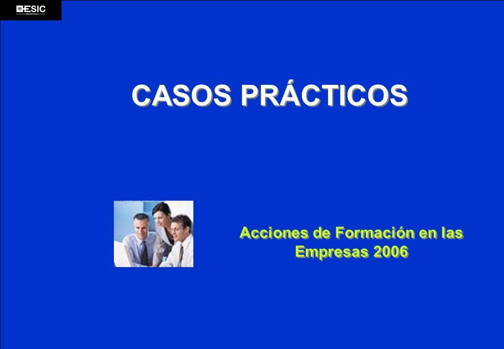 CASOS PRÁCTICOS Acciones de Formación en las Empresas 2006