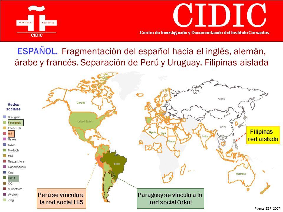 CIDIC Centro de Investigación y Documentación del Instituto Cervantes ESPAÑOL.