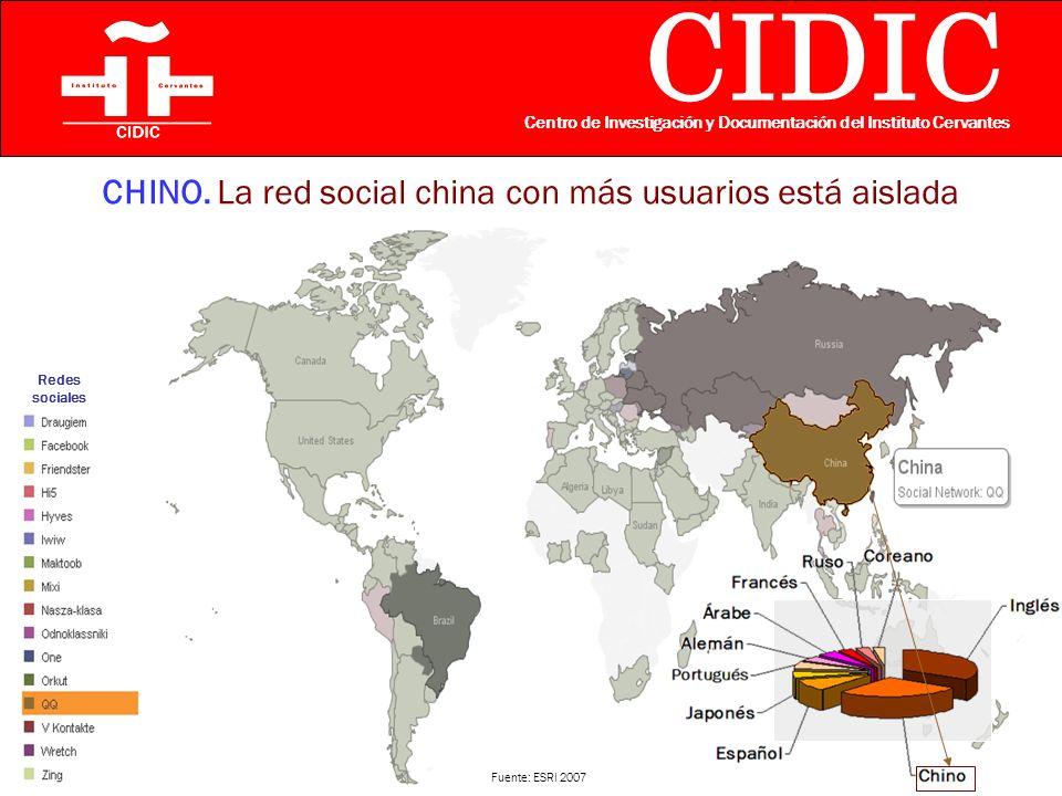 CIDIC Centro de Investigación y Documentación del Instituto Cervantes CHINO.