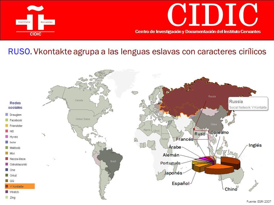 CIDIC Centro de Investigación y Documentación del Instituto Cervantes RUSO.