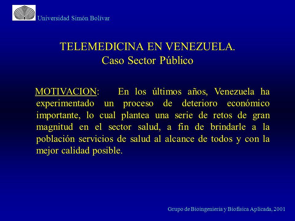Universidad Simón Bolívar Grupo de Bioingeniería y Biofísica Aplicada, 2001 TELEMEDICINA EN VENEZUELA.