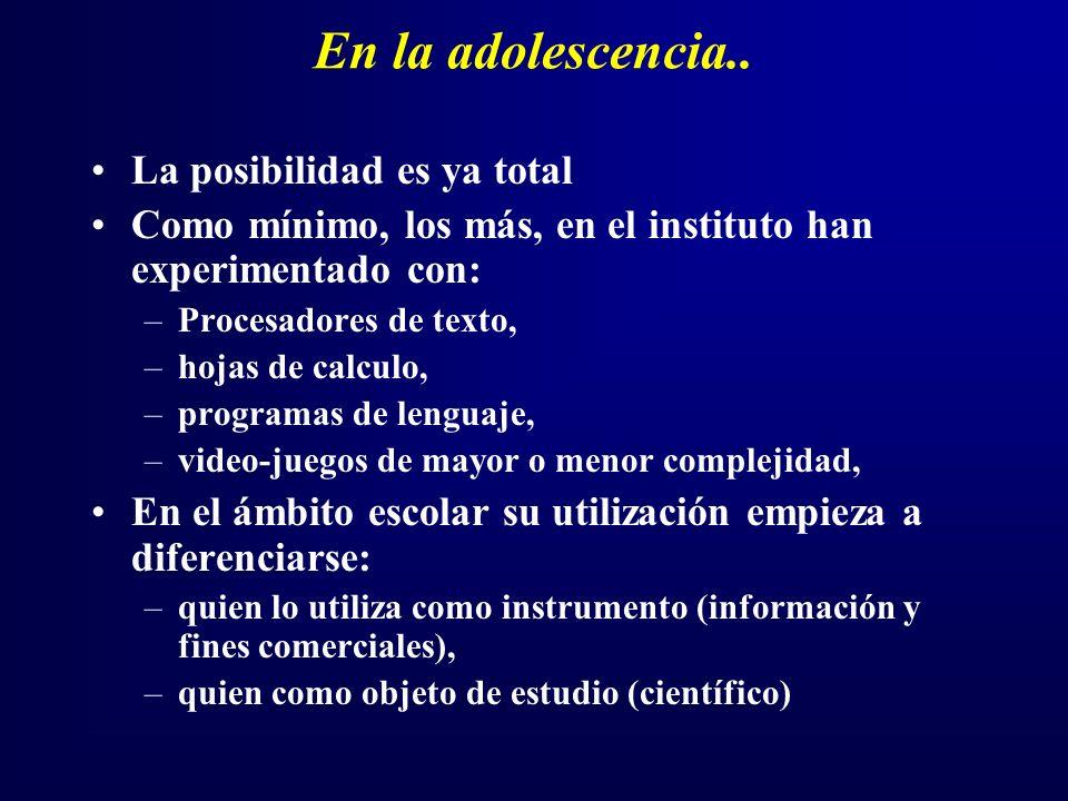 En la adolescencia..