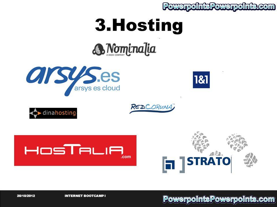 20/10/2012INTERNET BOOTCAMP I 3.Hosting