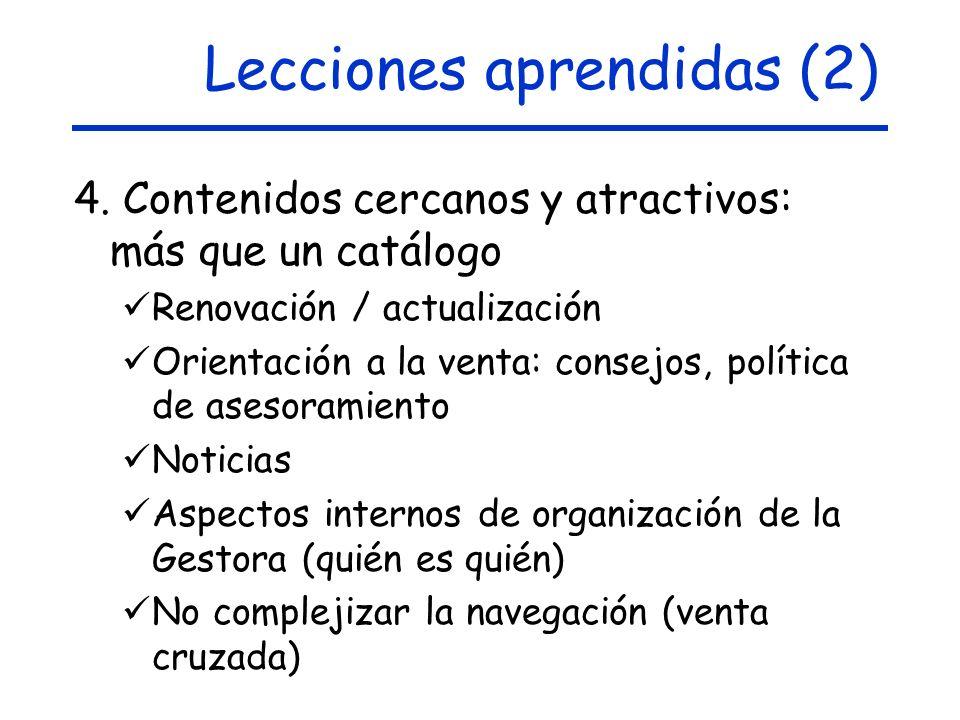 Lecciones aprendidas (2) 4.