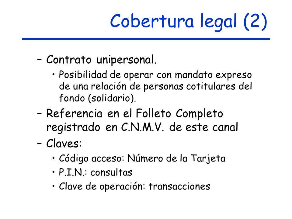 Cobertura legal (2) –Contrato unipersonal.