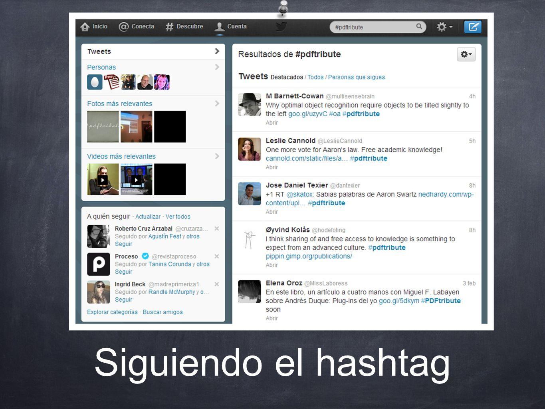 Siguiendo el hashtag