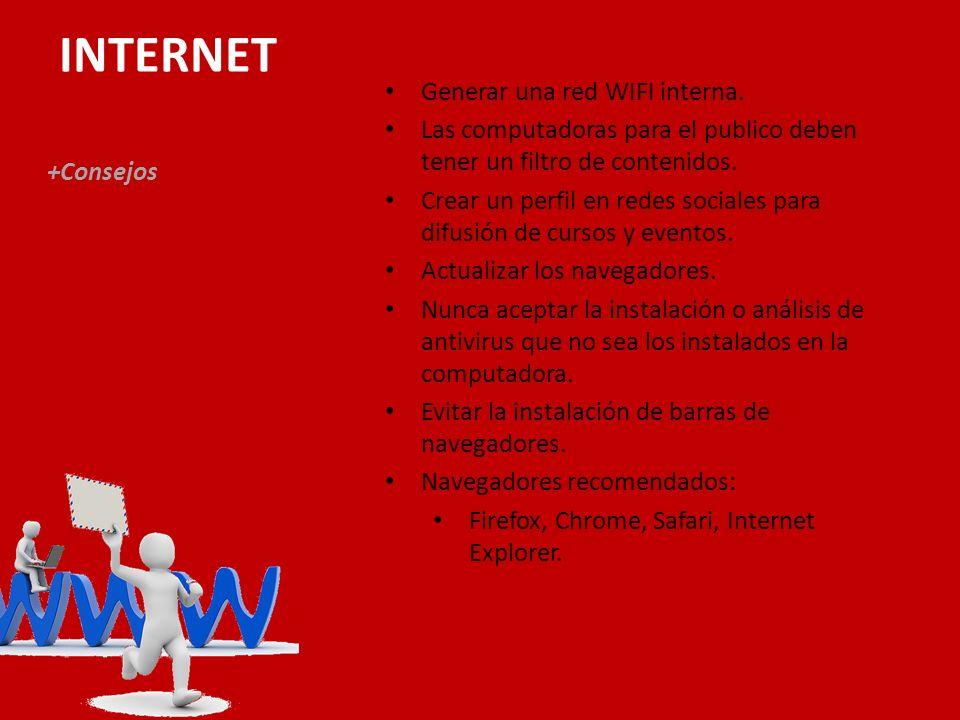 INTERNET +Consejos Generar una red WIFI interna.