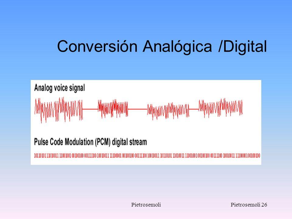 PietrosemoliPietrosemoli 26 Conversión Analógica /Digital