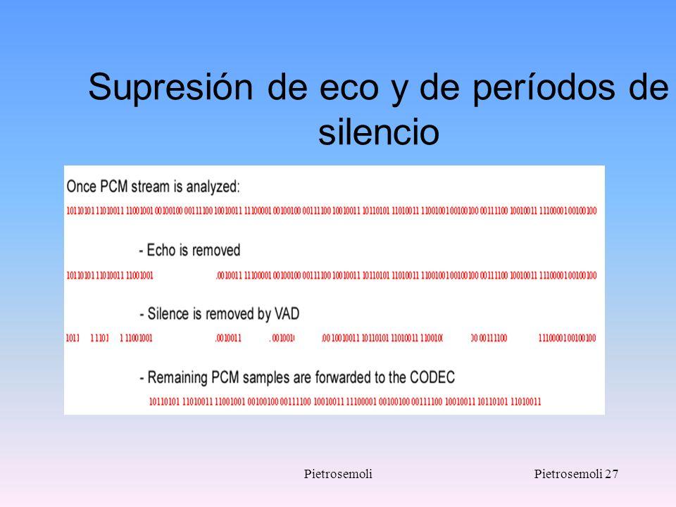 PietrosemoliPietrosemoli 27 Supresión de eco y de períodos de silencio