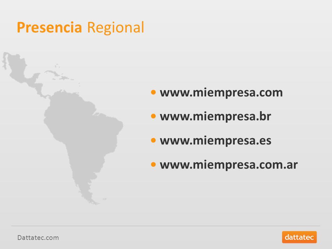 Dattatec.com www.miempresa.com www.miempresa.br www.miempresa.es www.miempresa.com.ar Presencia Regional