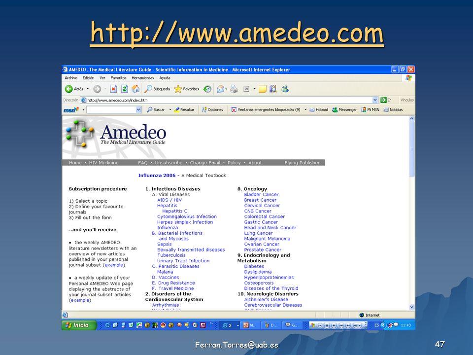 Ferran.Torres@uab.es 47 http://www.amedeo.com